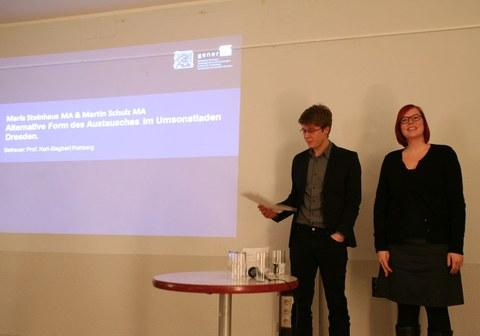 Vortrag Maria Steinhaus M.A., Martin Schulz M.A.