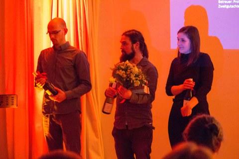 v.l.n.r.: Vortragende Lemcke, Polte und Stendera