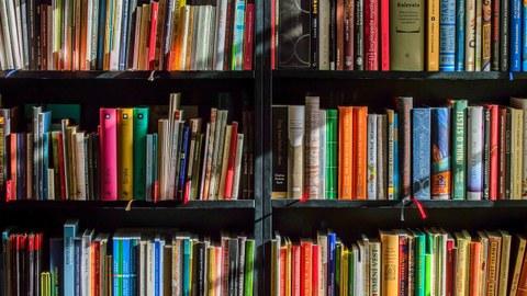Regal mit Büchern