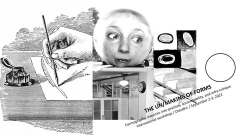 Collage aus verschiedenen Grafiken und Fotos