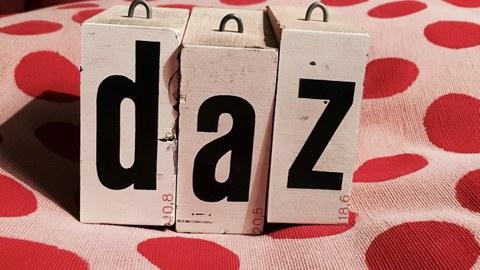 Stempelbuchstaben DAZ