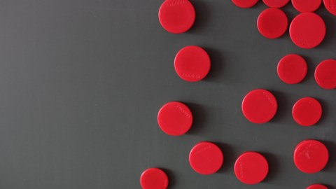 Magnete an der Tafel