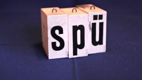 """Stempelbuchstaben """"SPÜ"""""""