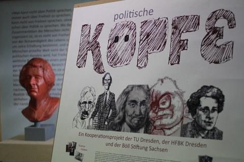 Ausstellungsplakat der Köpfe Ausstellung