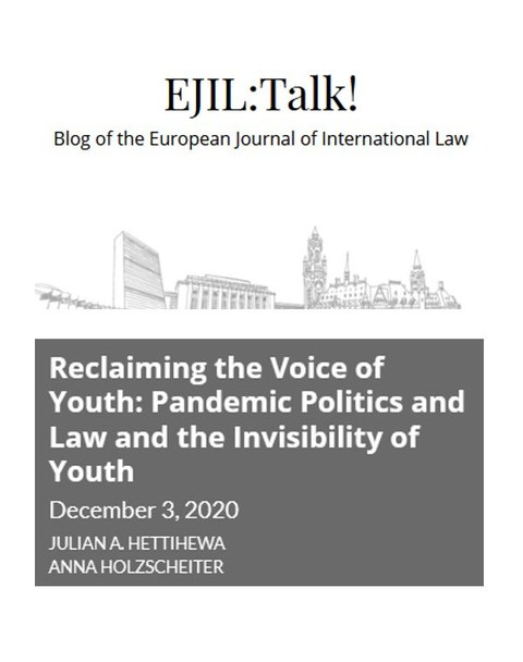 EJIL Cover der Publikation