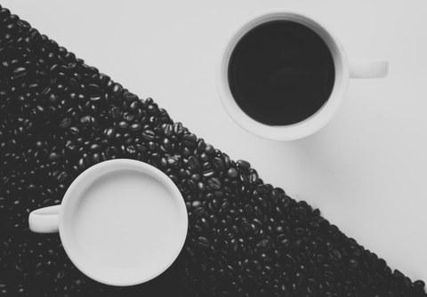 Kaffee black and white