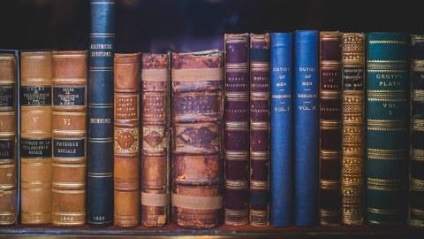 Bücher Rücken alt