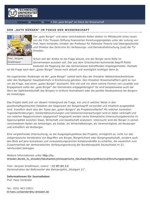 Pressemitteilung TU Dresden