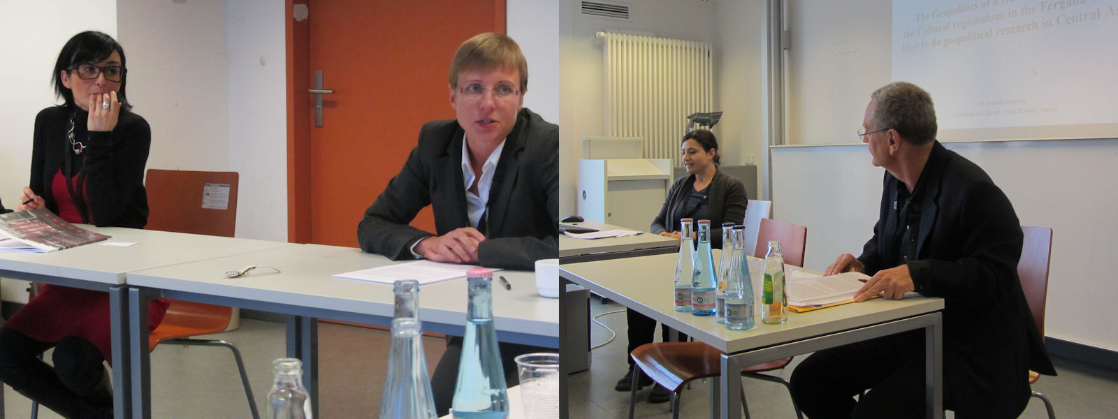 Von links: Antonelle Diana (International Institute für Asian Studies, Niederlande), Katarzyna Stoklosa, Isabella Damiani (Université du Littoral), Gerhard Besier