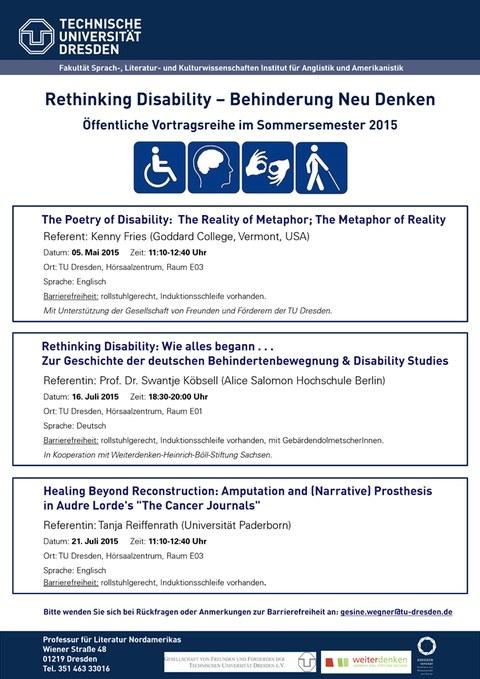Plakat Rethinking Disability - Behinderung Neu Denken