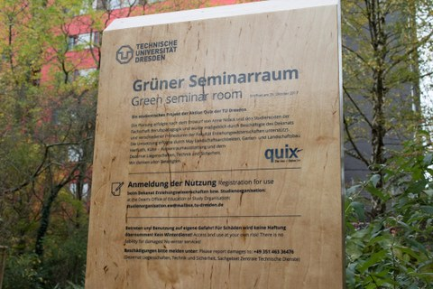 Einweihnung des Grünen Seminarraums