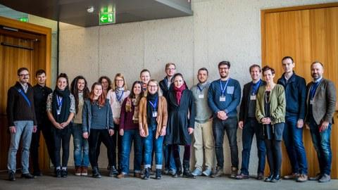 Die Teilnehmer/innen des ersten internationalen Modellathons in Köln am 2. März 2018