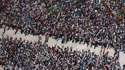 Menschmassen, Demonstration, Versammlung
