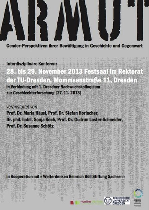 "Poster Tagung ""ARMUT"""