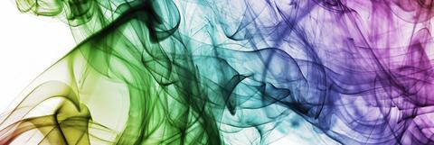 Über das Bild erstrecken sich verschiedene Farben, die ineinander übergehen.
