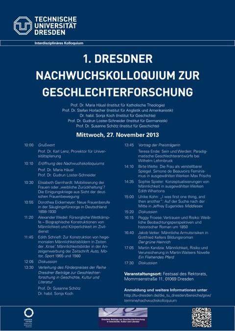 1. Dresdner nachwuchskolloquium