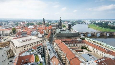 Dresden, Altstadt von oben