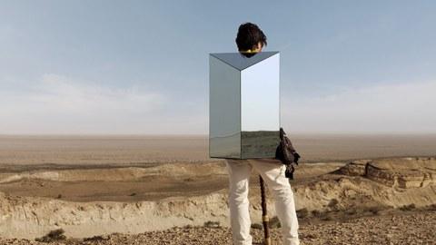 "Anton Ginzburg:  Video still  ""Walking the Sea"", 2013"