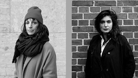 li.: Esmeralda Conde Ruiz, Artist in Residence 2022, Foto: York Wegerhoff / re.: Rosa Barba, Artist in Residence 2023, Foto: Sara Masüger