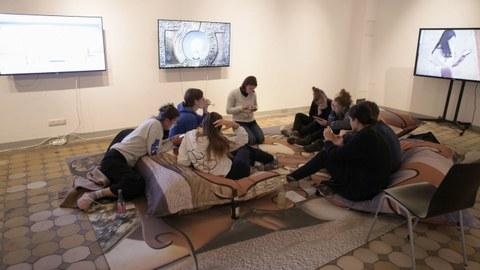 Finissage der Ausstellung Dear Humans... 2018 in der Altana-Galerie der TU Dresden_3