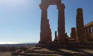 Foto des Tempels in Agrigent