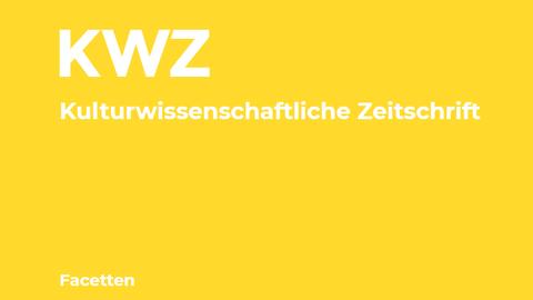 Logo der KWZ, weiß auf gelbem Hintergrund