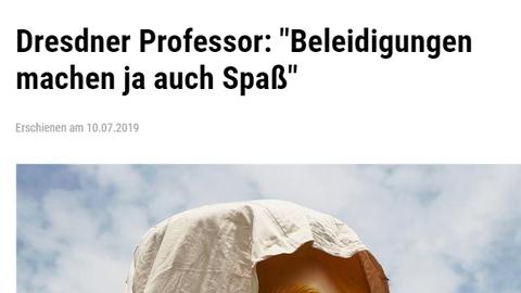 """""""Beleidigungen machen ja auch Spaß"""" - Gerd Schwerhoff im Interview mit der Freien Presse vom 10.07.2019"""