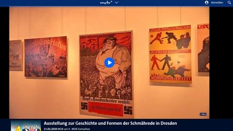 """""""Ausstellung zur Geschichte und Formen der Schmährede in Dresden"""" - Ein Bericht bei """"MDR um 4"""" vom 21.02.2020"""