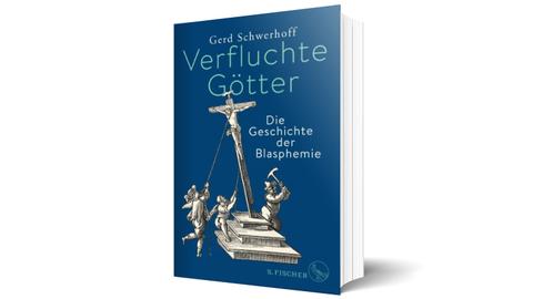 Cover des Buches Verfluchte Götter von Gerd Schwerhoff, blauer EInband
