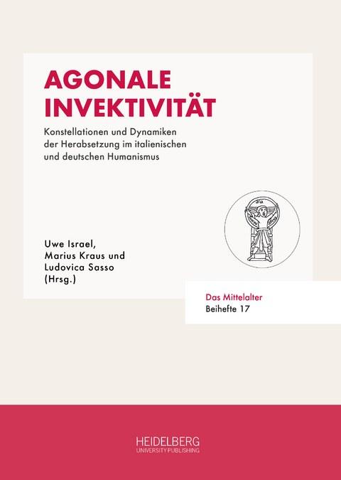 Cover des Buches Agonale Invektivität, Farben rot und weiß
