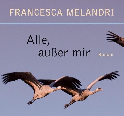 Auschnitt des Buchcovers mit dem Titel und 3 fliegenden Großvögeln