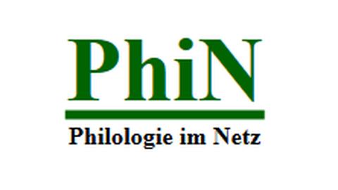 Logo von Philologie im Netz, grüne Schrift auf weiß