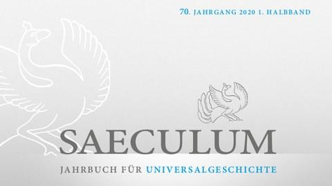 Titelblatt der Zeitschrift, nur Text: Saeculum 70, 1