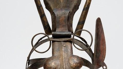 Foto einer sogenannten Schandmaske aus dem Bayerischen Nationalmuseum München