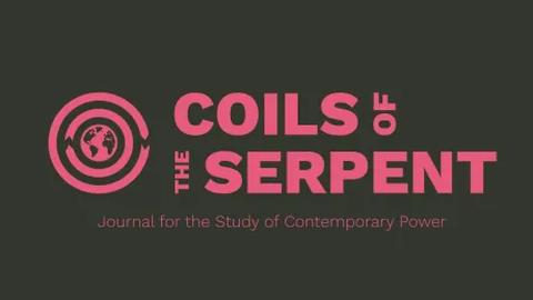 Logo der Zeitschrift Coils of the Serpent, pink auf grau