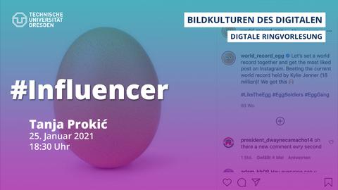 Share Pic mit Vortragsankündigung, abstrakte Grafik in Lilatönen