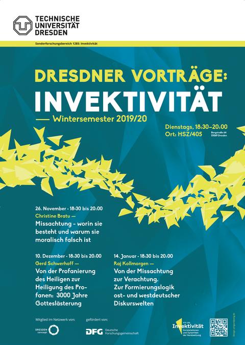Plakat Dresdner Vorträge: Invektivität 2019