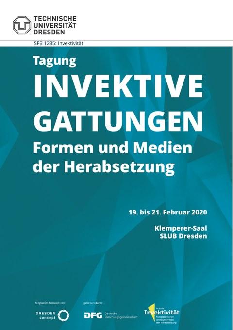 Plakat für Tagung Invektive Begattungen, nur text