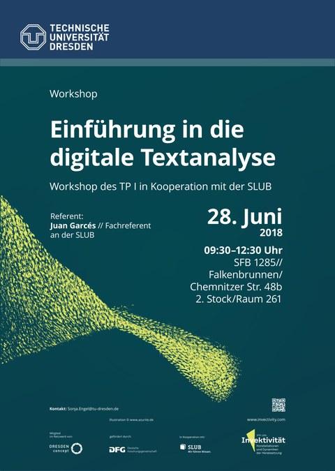 Plakat Digitale Textanalyse