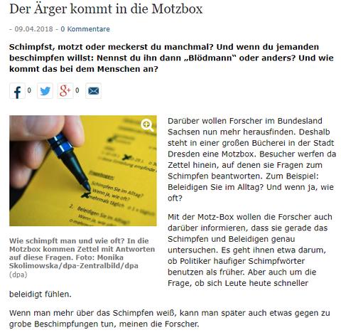 Weser Kurier Tageszeitung am 9. April 2018