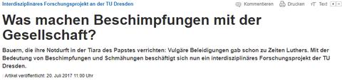 Artikel in den Dresdner Neuesten Nachrichten vom 20. Juli 2017