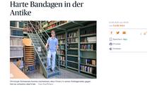 Screenshot des Online-Artikels, Bild von C. Schwameis in einer Bibliothek