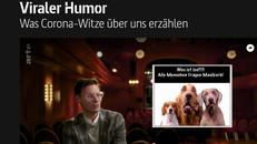 Screenshot des Videos Viraler humor - was Corona-Witze über uns erzählen mit Lars Koch vom SFB 1285