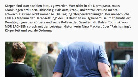 Screenshot aus dem Online-Artikel