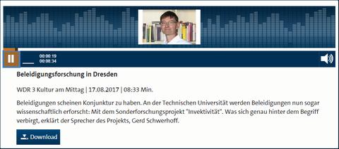 Beitrag im WDR vom 17. August 2017