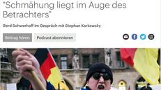 Deutschlandfunk Kultur am 09. April 2018 Screenshot des Online-Artikels, Ausschnitt Überschrift