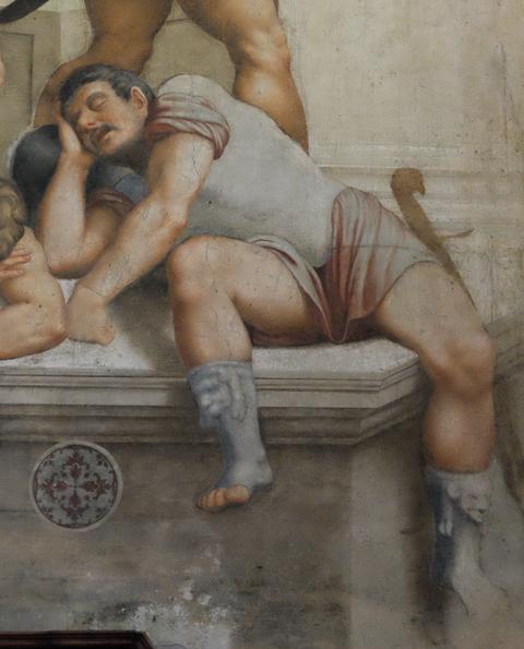 Bernardino Gatti, Auferstehung, 1529, Fresko, Dom, Cremona