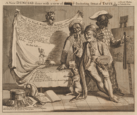 Paul Sandby, A New Dunciad Done with a View of [Fixing] ye Fluctuating Ideas of Taste, 1753, 19,4 × 23,1 cm, New York, Public Library