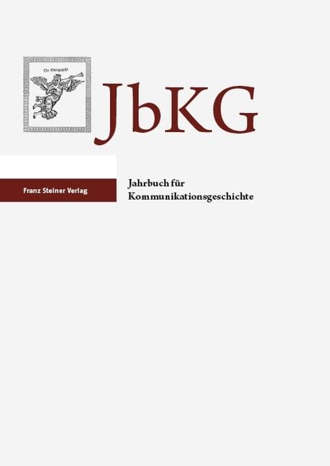 Titelbild des Jahrbuchs für Kommunikationsgeschichte