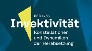 Logo des SFB 1285, grüner Hintergrund, gelbes Dreieck, weiße Schrift